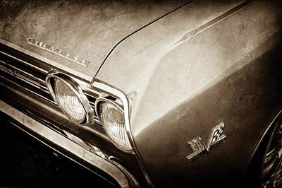 1967 Chevrolet Chevelle Emblems -0002s Print by Jill Reger