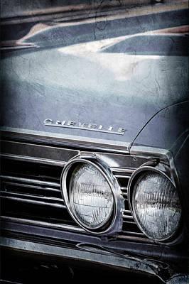 1967 Chevy Chevelle Ss Photograph - 1967 Chevrolet Chevelle Ss Super Sport Emblem -0413ac by Jill Reger