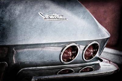 1967 Chevrolet Corvette Taillight -0481ac Print by Jill Reger