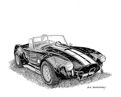 Cobra Drawing - 1967 Cobra Sc by Jack Pumphrey