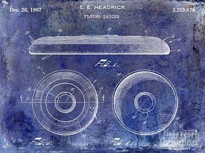 1967 Frisbee Patent Blue Print by Jon Neidert