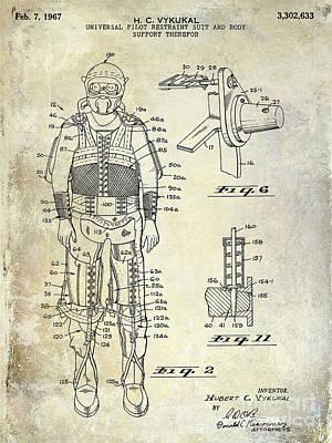 1967 Pilot G Suit Patent Print by Jon Neidert
