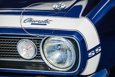 1968 Photograph - 1968 Chevrolet Yenko Super Camaro Ss Hood Emblem -1785c by Jill Reger
