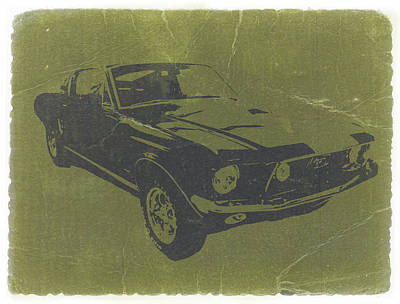 Muscle Digital Art - 1968 Ford Mustang by Naxart Studio