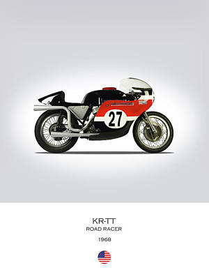 Harley Davidson Photograph - 1968 Harley Krtt Road Racer by Mark Rogan