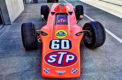 1968 Lotus 56 Turbine Indy Car #60  Print by Josh Williams
