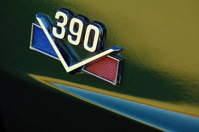 1969 Amx 390 American Motors Emblem Print by Jill Reger