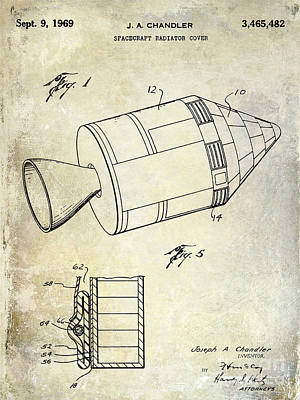 Neil Armstrong Neil Armstrong Photograph - 1969 Apollo Spacecraft Patent by Jon Neidert