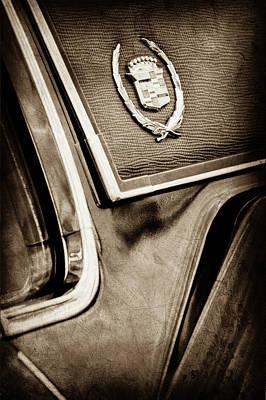 1969 Photograph - 1969 Cadillac Eldorado Emblem -0275s by Jill Reger