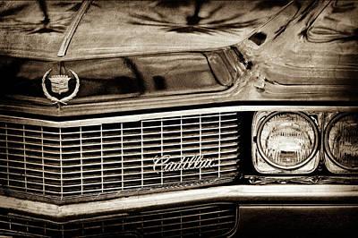 1969 Photograph - 1969 Cadillac Eldorado Grille Emblem -0270s by Jill Reger