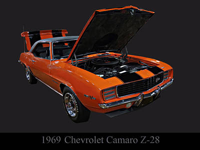 Poster From Digital Art - 1969 Chevy Camaro Z28 by Chris Flees