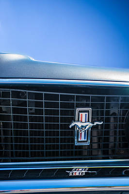 1969 Photograph - 1969 Ford Mustang Grille Emblem -0133c by Jill Reger