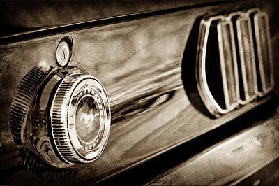 1969 Ford Mustang Taillight Emblem -0896s Print by Jill Reger
