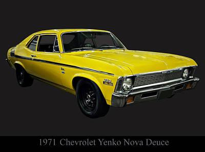 Poster From Digital Art - 1971 Chevy Nova Yenko Deuce by Chris Flees