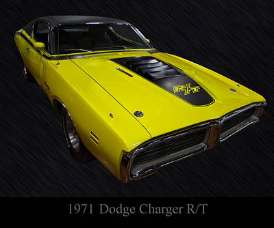Poster From Digital Art - 1971 Dodge Charger Rt by Chris Flees