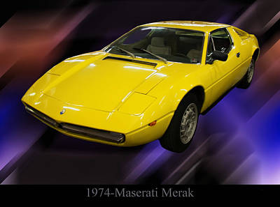 Poster From Digital Art - 1974 Maserati Merak by Chris Flees