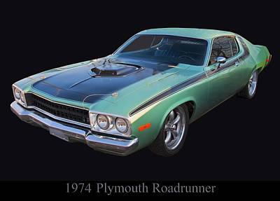 Poster From Digital Art - 1974 Plymouth Roadrunner by Chris Flees