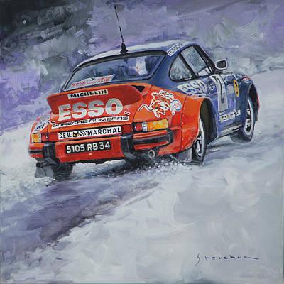 Carlos Painting - 1980 Rallye Monte Carlo Porsche 911 Sc Hannu Mikkola  by Yuriy Shevchuk