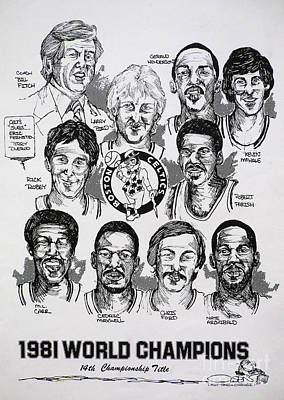 1981 Boston Celtics Championship Newspaper Poster Print by Dave Olsen