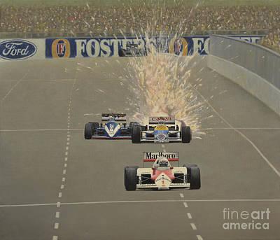 Motor Racing Painting - Splash Of Glory by Oleg Konin