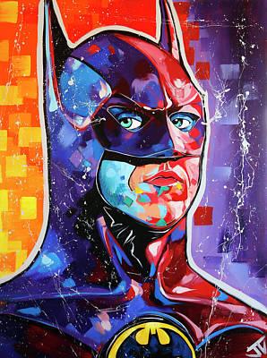 Batman Building Painting - 1989 Classic Batman by Jay V Art