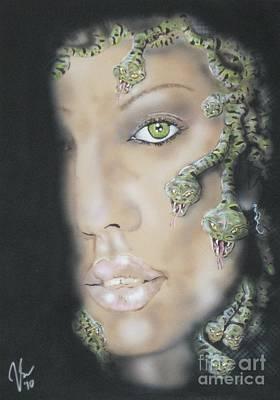 Jessica Alba Painting - 1st Medusa by John Sodja