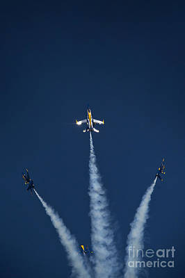 Command Painting -  The Blue Angels by Celestial Images
