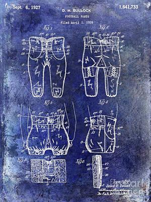 1927 Football Pants Patent Print by Jon Neidert