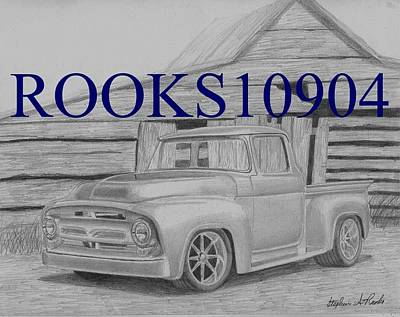1956 Ford Pickup Truck Art Print Print by Stephen Rooks