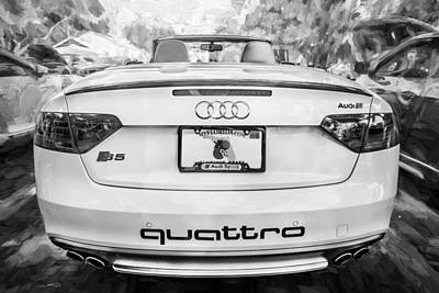 Audi Quattro Sport Photograph - 2015 Audi Quattro S5 Coupe Painted Bw by Rich Franco