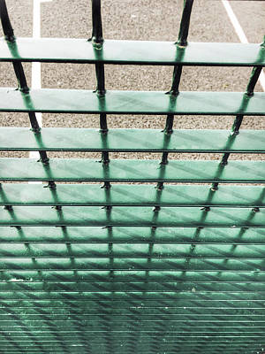 Converging Photograph - A Metal Fence by Tom Gowanlock