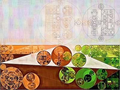 Abstract Painting - Brown Bramble Print by Vitaliy Gladkiy