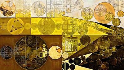 Feelings Digital Art - Abstract Painting - Brown Pod by Vitaliy Gladkiy