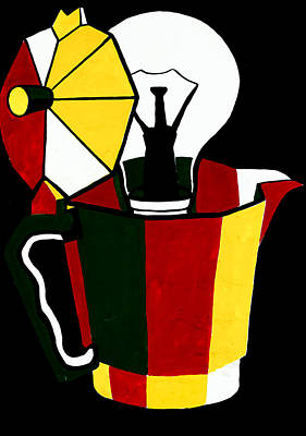 Old Pitcher Drawing - Abstract Painting By Ivailo Nikolov by Boyan Dimitrov
