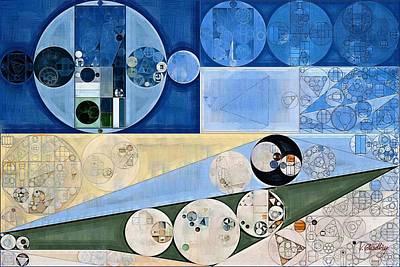 Feelings Digital Art - Abstract Painting - Dark Pastel Blue by Vitaliy Gladkiy