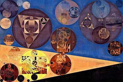 Abstract Painting - Earth Yellow Print by Vitaliy Gladkiy