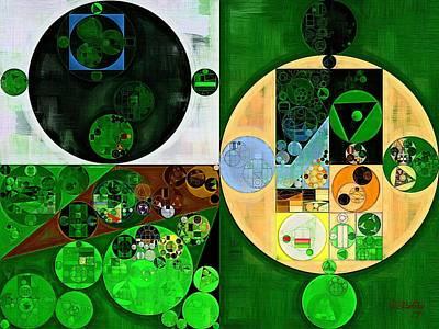 Mint Digital Art - Abstract Painting - Lincoln Green by Vitaliy Gladkiy