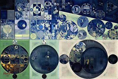 Abstract Painting - Midnight Express Print by Vitaliy Gladkiy