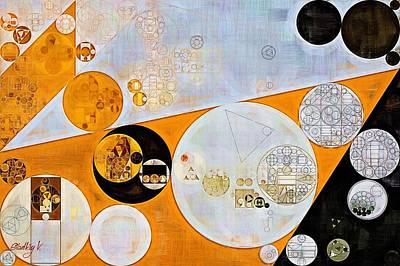 Abstract Painting - Ochre Print by Vitaliy Gladkiy