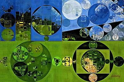 Rectangles Digital Art - Abstract Painting - Olive Drab by Vitaliy Gladkiy