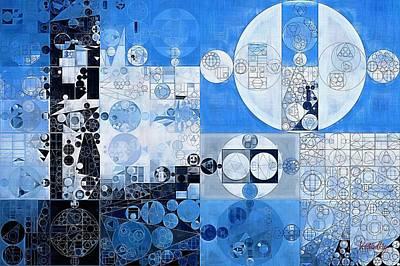 Feelings Digital Art - Abstract Painting - Oxford Blue by Vitaliy Gladkiy