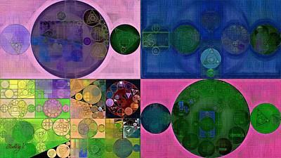 Pomona Digital Art - Abstract Painting - Resolution Blue by Vitaliy Gladkiy