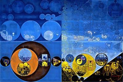 Abstract Painting - Satin Sheen Gold Print by Vitaliy Gladkiy