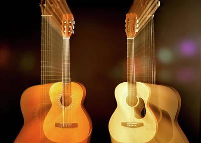 Acoustic Guitar Photograph - Acoustic Overtone by Leland D Howard