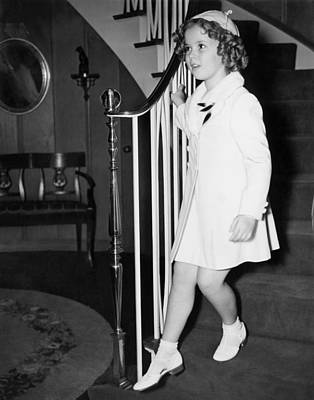 Shirley Temple Photograph - Actress Shirley Temple by Underwood Archives