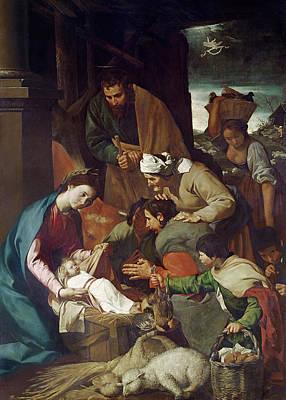 Adoration Of The Shepherds Print by Bartolome Esteban Murillo