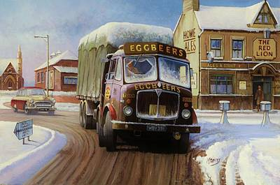 Winterscenes Painting - Aec Tinfront by Mike  Jeffries