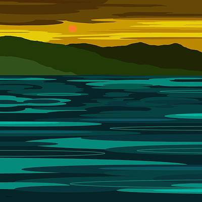 Minimalist Landscape Digital Art - After The Storm by Val Arie