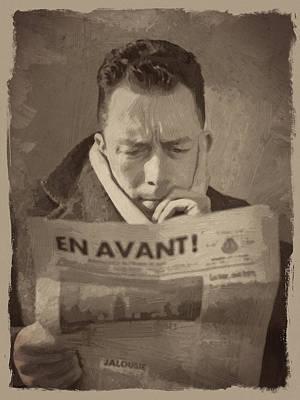French Digital Art - Albert Camus 1 by Afterdarkness