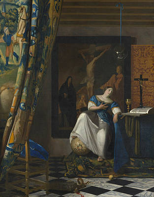 History Painting - Allegory Of The Catholic Faith by Johannes Vermeer